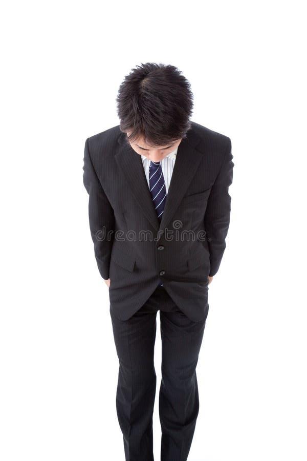 Jeune homme d'affaires avec une proue image libre de droits