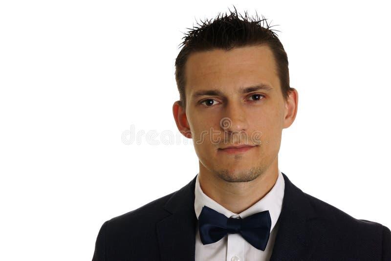 Jeune homme d'affaires dans le costume image stock