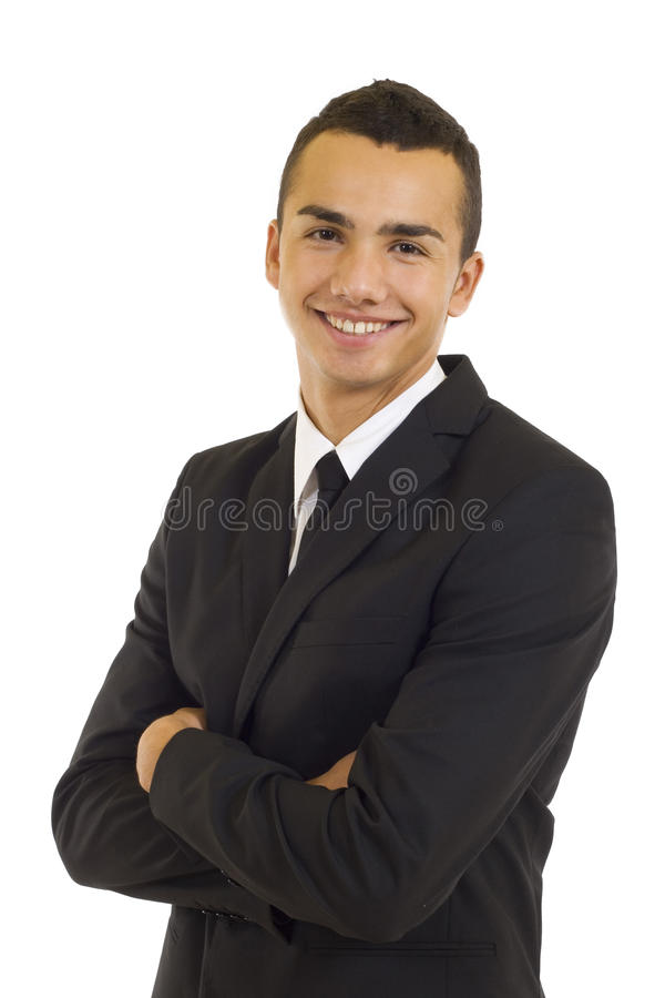 Jeune homme d'affaires de sourire photos stock