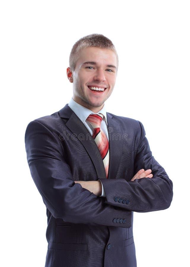 Jeune homme d'affaires de sourire heureux image libre de droits
