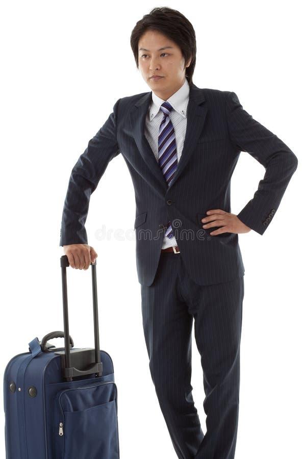 Jeune homme d'affaires en voyage d'affaires image libre de droits
