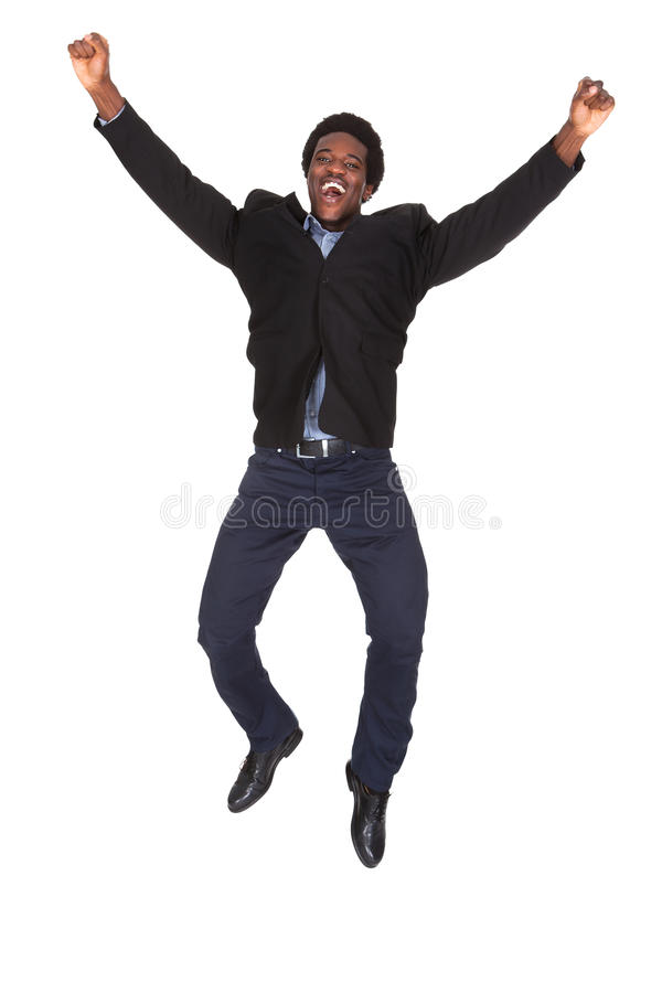 Jeune homme d'affaires heureux image libre de droits