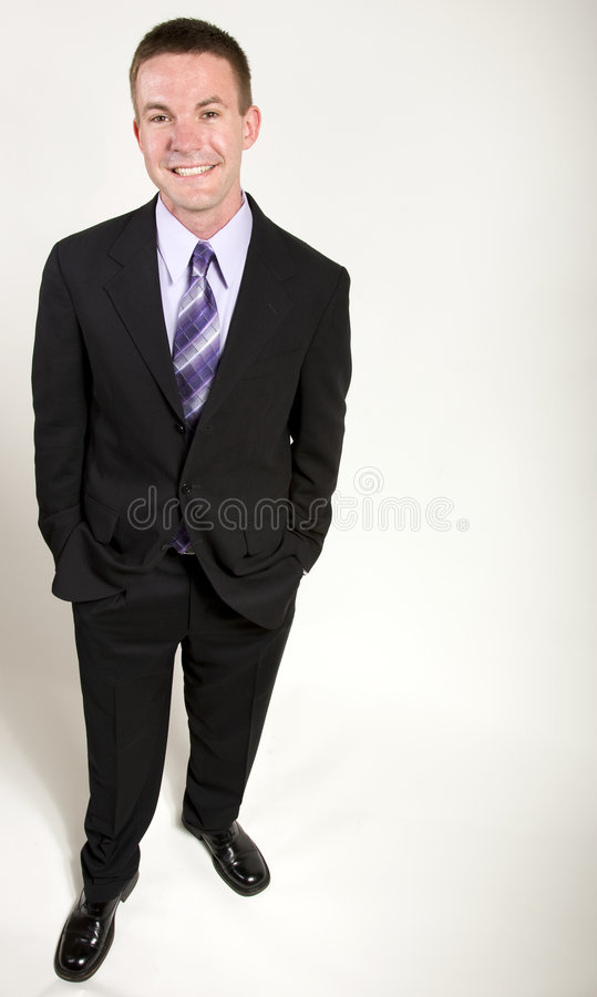 Jeune homme d'affaires Relaxed photographie stock