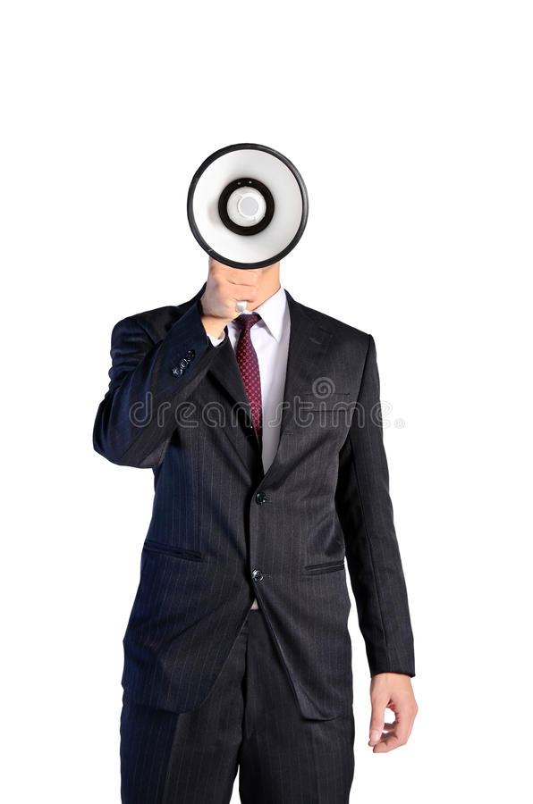 Jeune homme d'isolement d'affaires photo stock