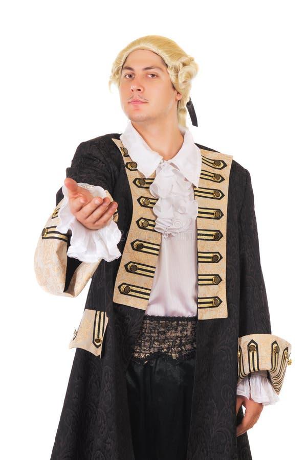 Jeune homme dans le costume médiéval photos libres de droits