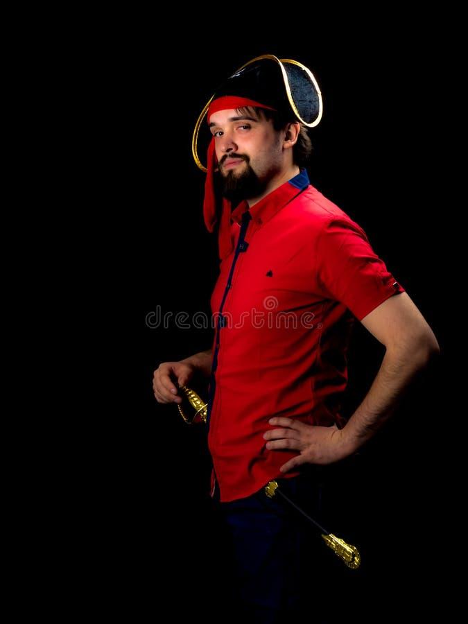 Jeune homme dans le manteau de carnaval images libres de droits