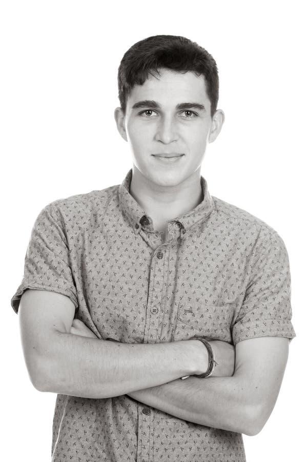 Jeune homme dans le studio photos libres de droits