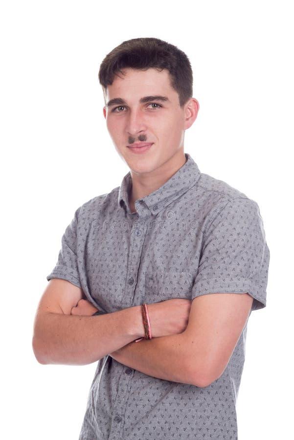Jeune homme dans le studio image stock