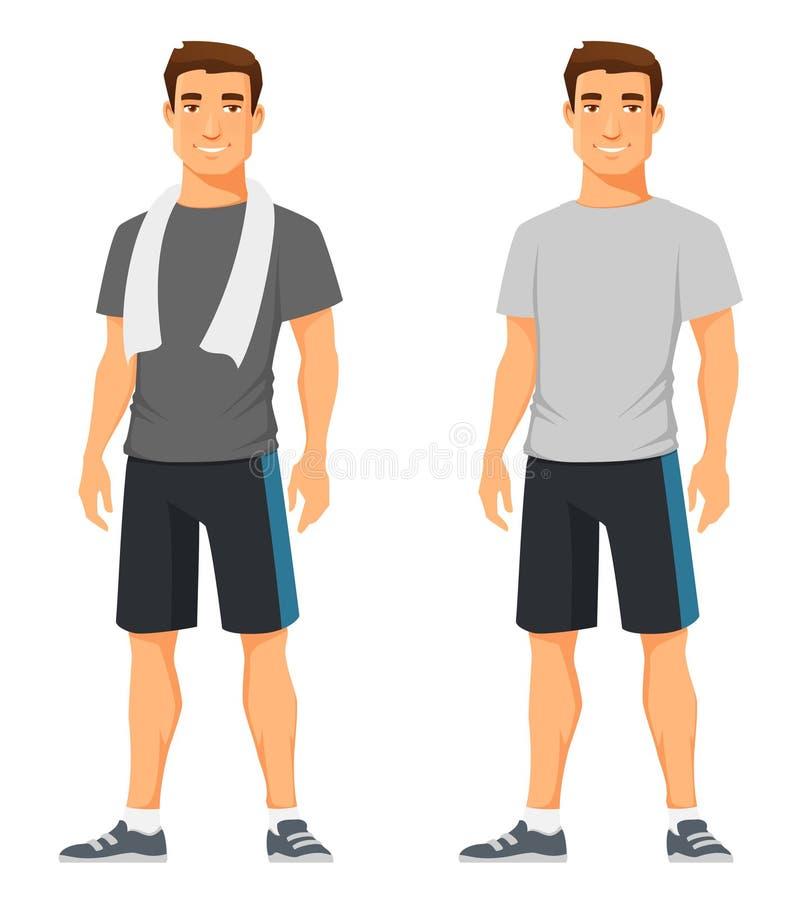 Jeune homme dans les vêtements de sport illustration de vecteur