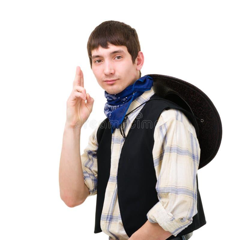 Jeune homme dans un chapeau de cowboy image libre de droits