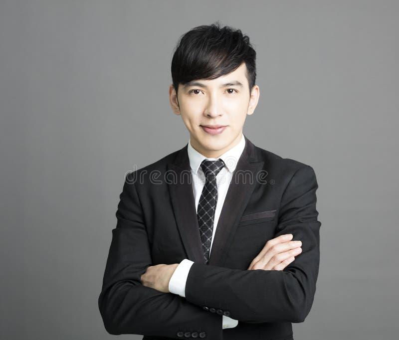 Jeune homme de sourire heureux d'affaires image libre de droits