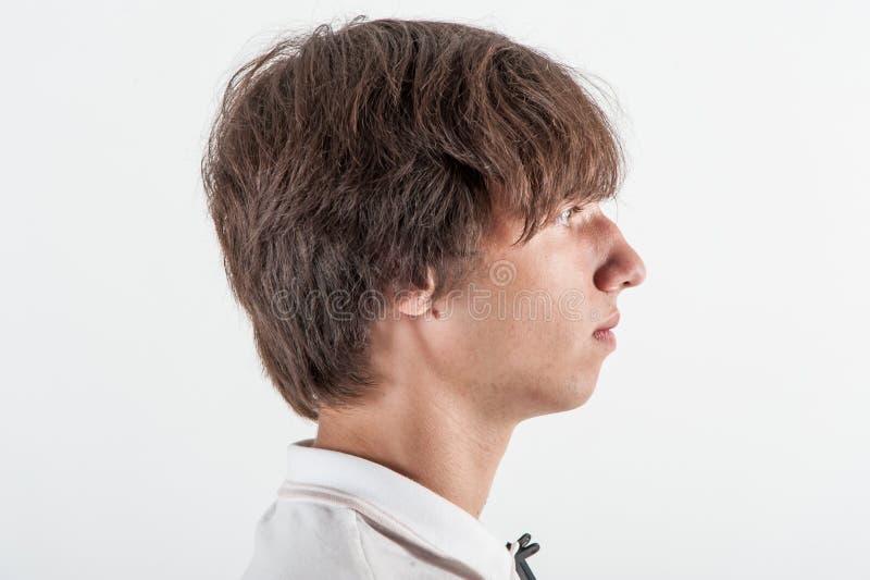 Jeune homme, demi visage images stock