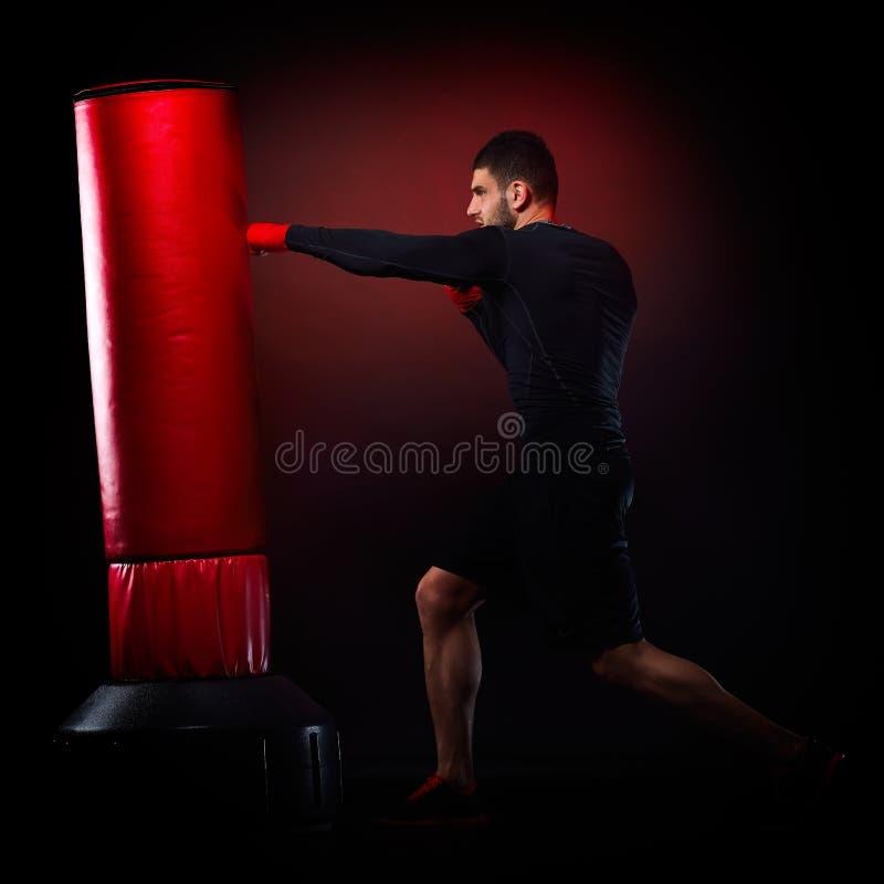 Download Jeune Homme Exerçant La Boxe De Sac Image stock - Image du boxeur, sparring: 56483573
