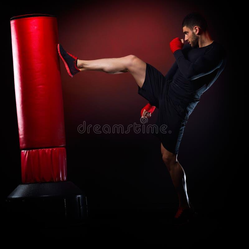 Download Jeune Homme Exerçant La Boxe De Sac Image stock - Image du matériel, sportif: 56483671