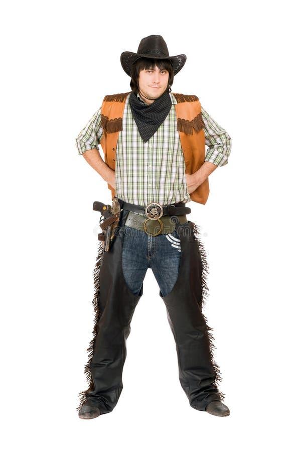 Jeune homme habillé comme cowboy photo libre de droits