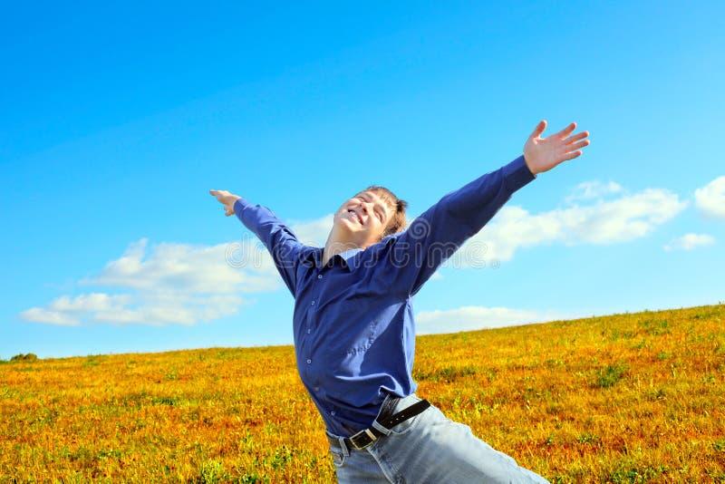 Jeune homme heureux images libres de droits