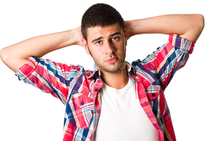 Jeune homme hispanique images libres de droits