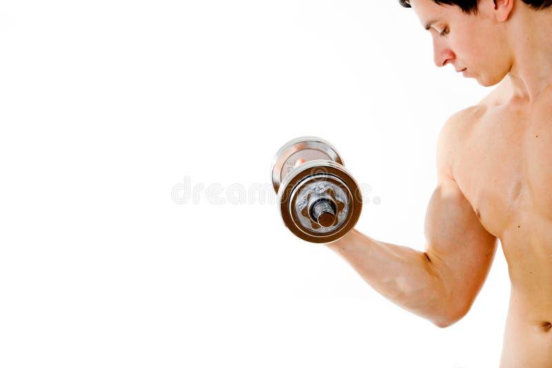 Jeune homme musculaire puissant photos stock