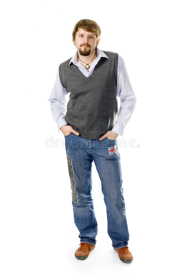 Jeune homme occasionnel image stock