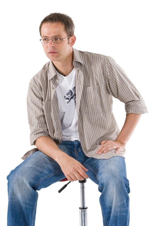 Jeune homme occasionnel image libre de droits