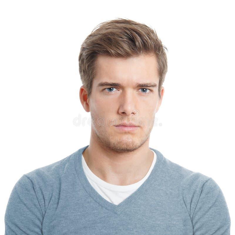 Jeune homme semblant contrarié photos stock
