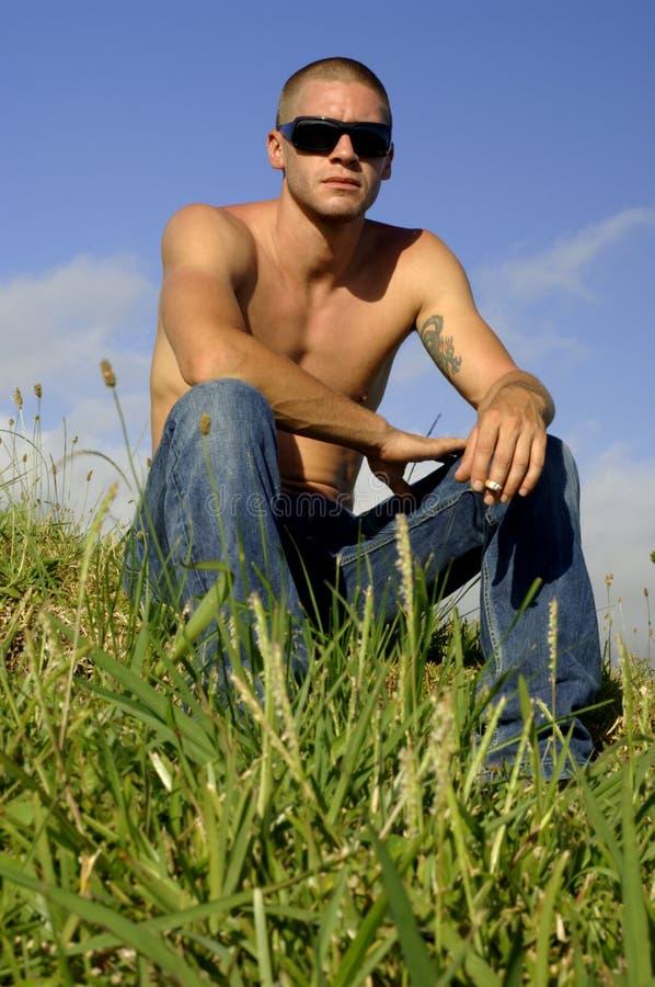 Jeune homme sexy 1 image libre de droits