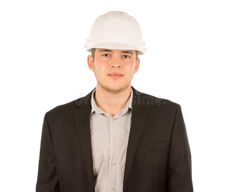 Jeune ingénieur masculin Portrait de demi corps photo stock