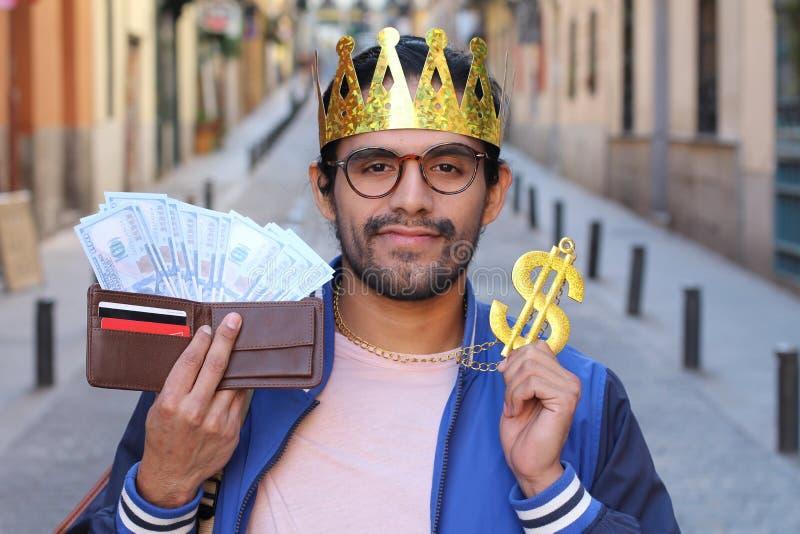 Jeune investisseur réalisant un bon bénéfice photographie stock libre de droits