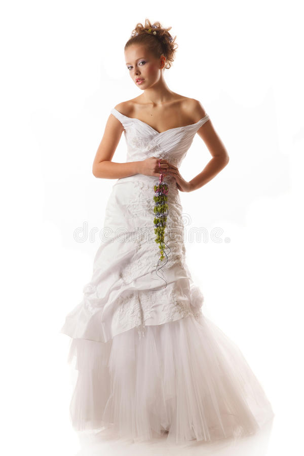 Jeune jeune mariée images stock