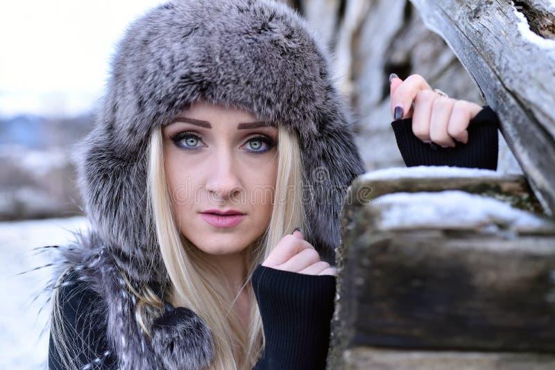Download Jeune Joli Portrait De Femme Extérieur En Hiver Photo stock - Image du froid, frais: 56479314