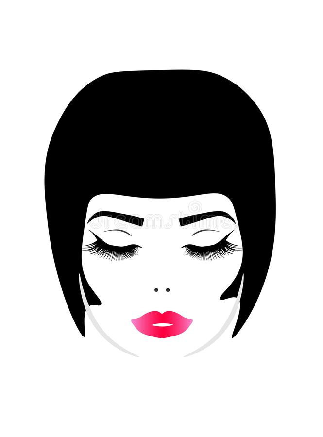 Jeune jolie femme de Web illustration stock