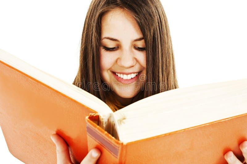 Jeune jolie fille avec des livres photo stock