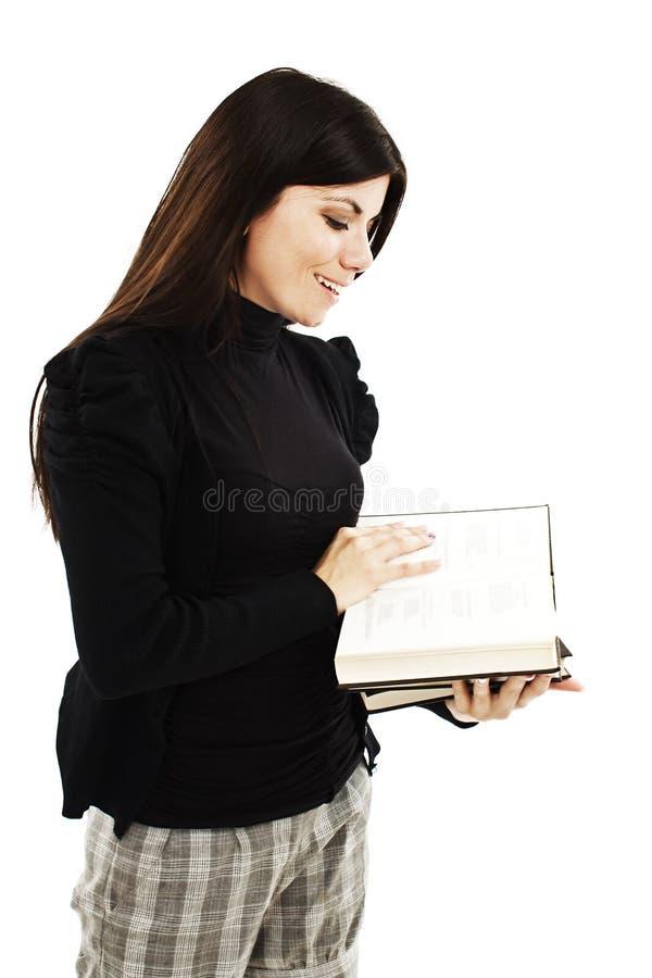 Jeune jolie fille avec des livres image libre de droits