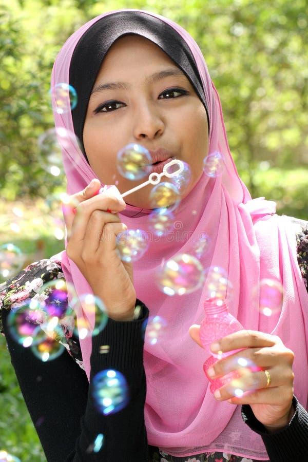 Jeune jolie fille musulmane photos libres de droits