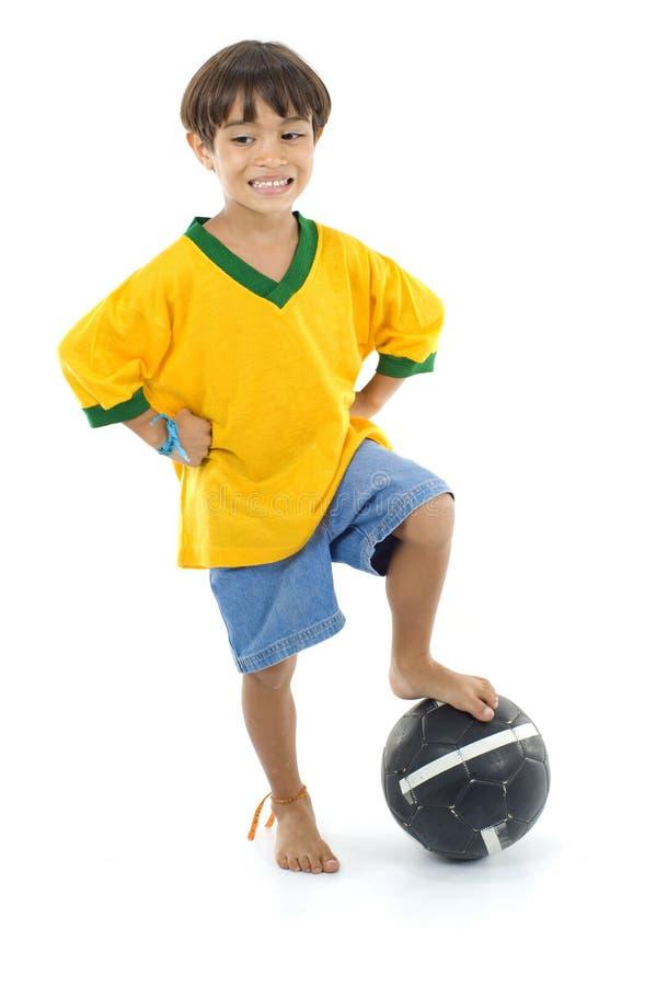 Jeune joueur brésilien photo stock