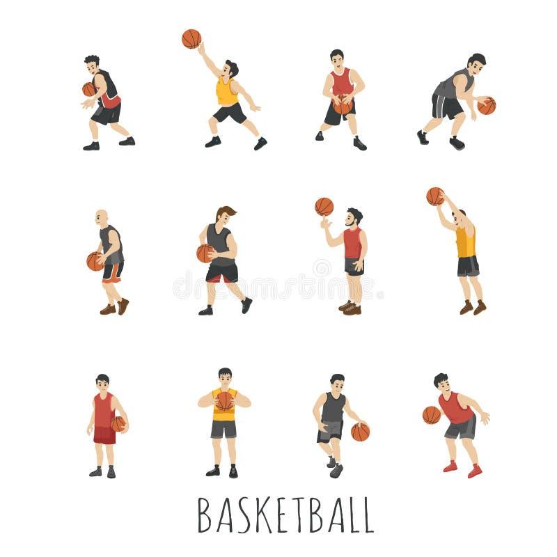 Jeune joueur de basket illustration stock