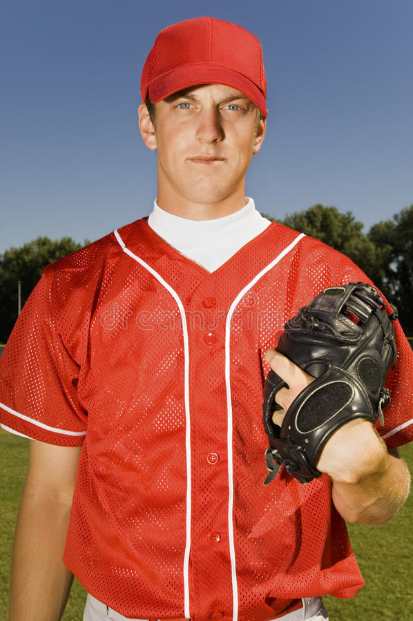 Jeune lanceur de base-ball photo stock