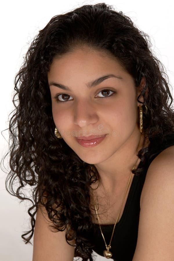 Jeune Latina Headshot photographie stock