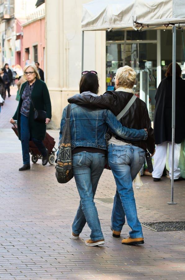 Jeune lesbienne photo libre de droits