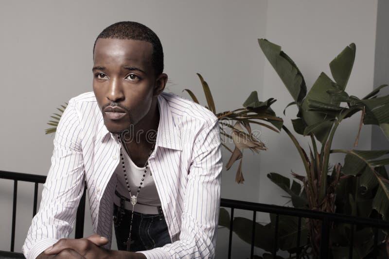 Jeune mâle d'Afro-américain photo stock