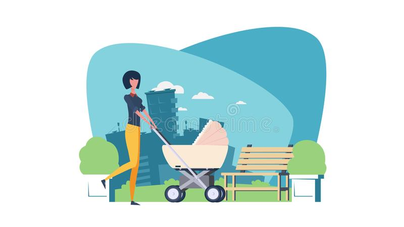 Jeune mère avec une chéri illustration de vecteur