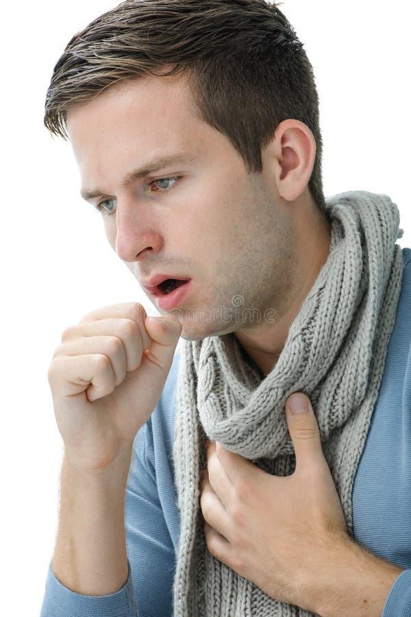 Jeune manl ayant un rhume photos libres de droits