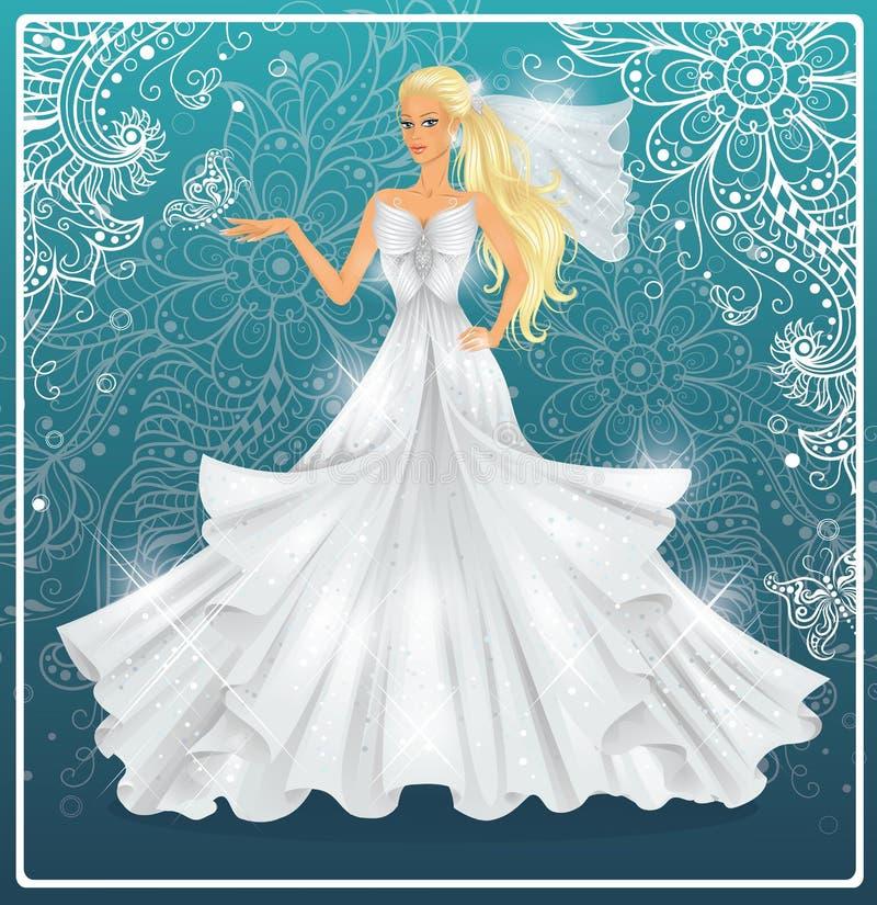 Jeune mariée. illustration stock