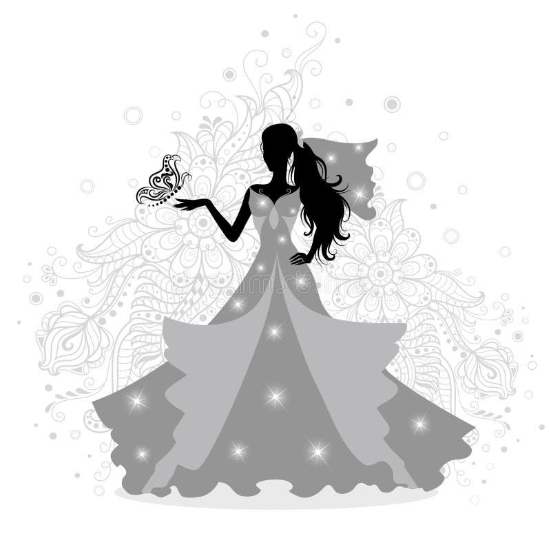 Jeune mariée. illustration de vecteur