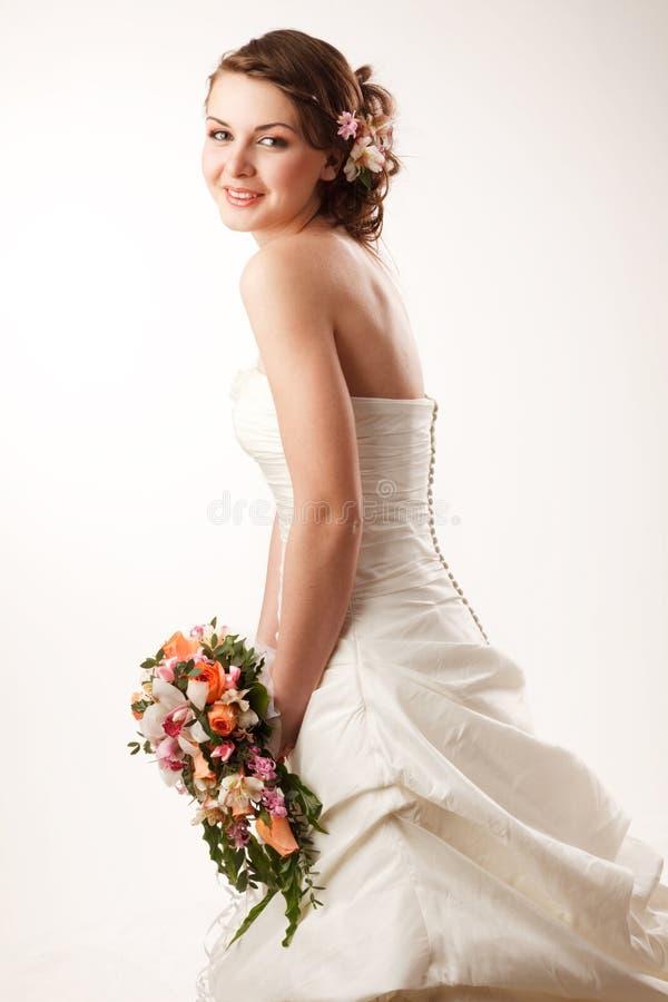 Jeune mariée brillante image libre de droits