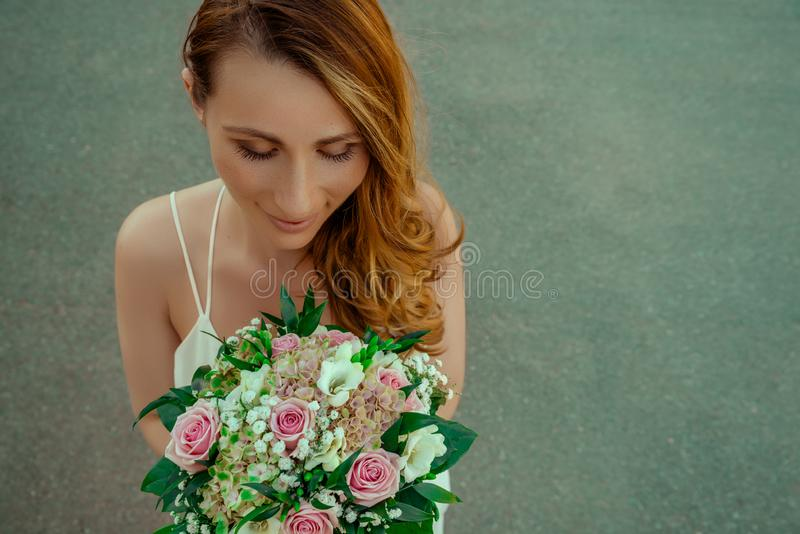 Jeune mariée de Demale photos libres de droits