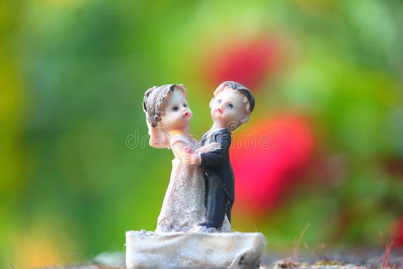 Jeune mariée et un modèle de marié images libres de droits