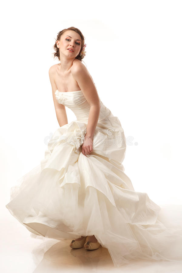 Jeune mariée fascinante photographie stock