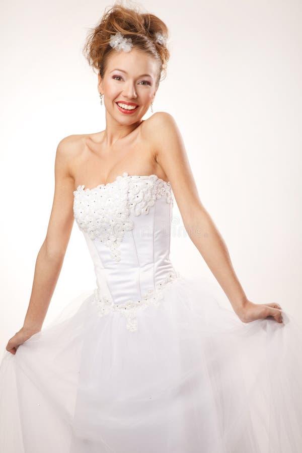 Jeune mariée heureuse image libre de droits