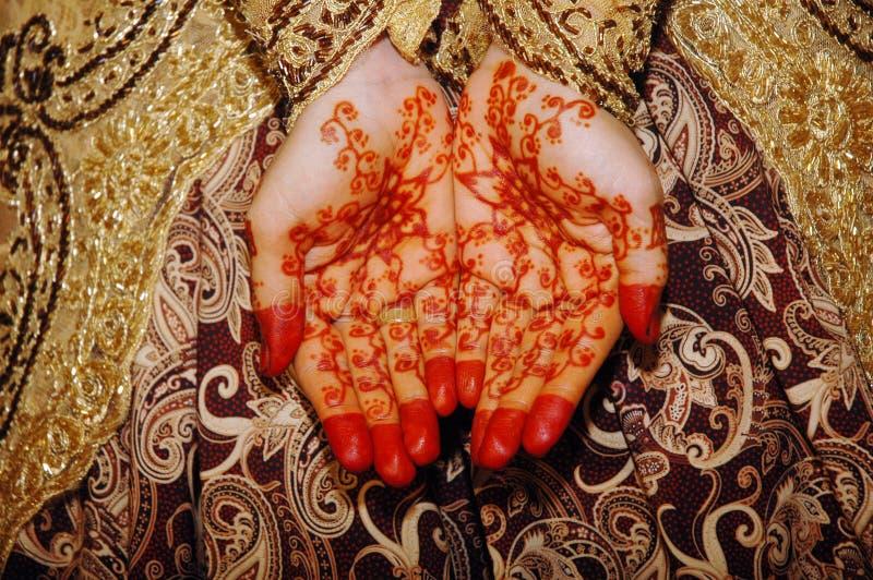 Jeune mariée indonésienne de mariage photo libre de droits
